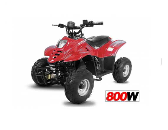 """Quad Big Foot Eco 6"""" 800W - FULL - Rouge"""