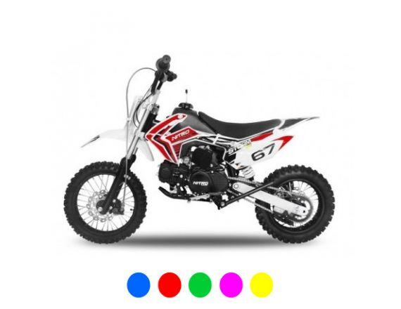 Dirt bike STORM 110cc - Semi-Automatique Rouge