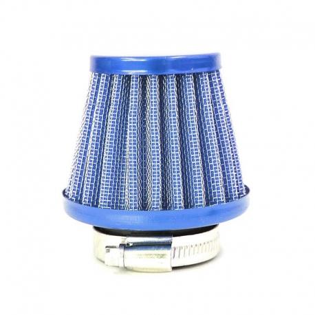 Filtre à air acier ø38mm - Bleu