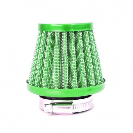 Filtre à air acier ø38mm - Vert