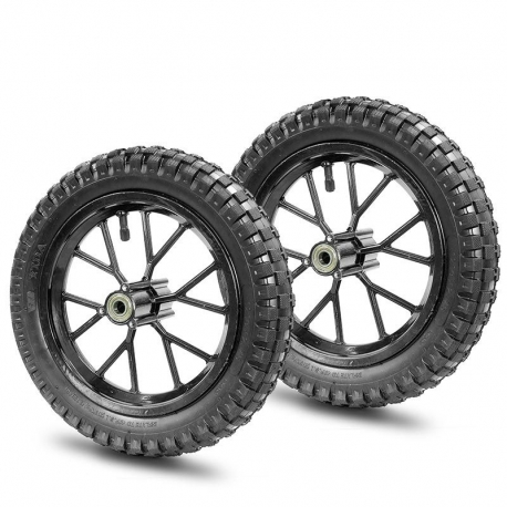Paire de roue Pocket Cross 12 1/2x2.75 - Noir