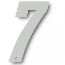 N°7 Numero de plaque YCF Blanc - 123x80mm (vendu par 3)