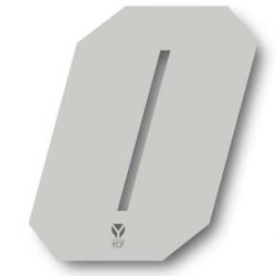N°0 Numero de plaque YCF Blanc - 108x105mm (vendu par 3)