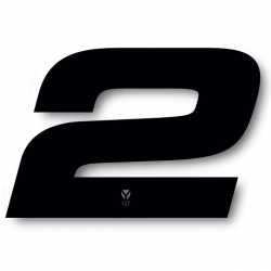 N°2 Numero de plaque YCF Noir - 117x172mm (vendu par 3)