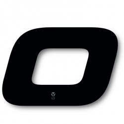 N°0 Numero de plaque YCF Noir - 117x172mm (vendu par 3)
