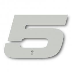 N°5 Numero de plaque YCF Blanc - 117x172mm (vendu par 3)