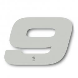 N°9 Numero de plaque YCF Blanc - 117x172mm (vendu par 3)