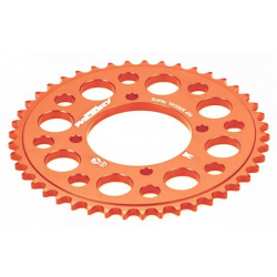 YCF COURONNE ALUMINIUM TAILLEE DANS LA MASSE 37 DENTS ORANGE