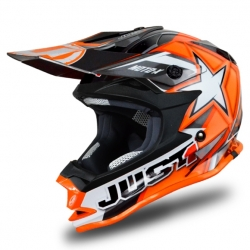 Casque cross JUST1 J32 Moto X Orange