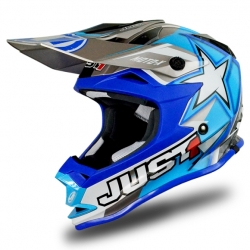 Casque cross JUST1 J32 Moto X Bleu