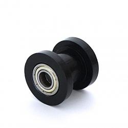 Roulette de chaine teflon guidée - ø10mm Noir