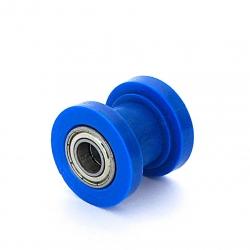Roulette de chaine teflon guidée - ø10mm Bleu