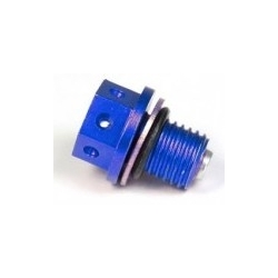 bouchon de vidange CNC bleu