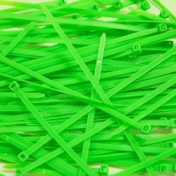 Collier de Serrage - Rilsan -100 pcs - 2.5x200mm - Vert Fluo