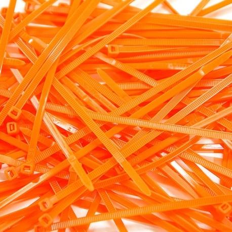 Collier de Serrage - 2.5x200mm - Orange Fluo