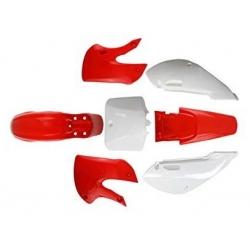 Kit plastique KLX - Rouge/Blanc