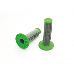 Poignée grip BIHR - Gris / Vert