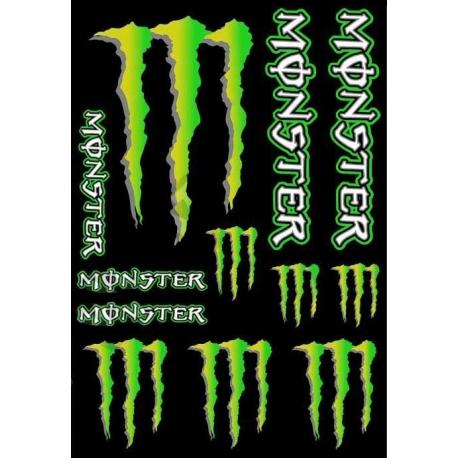Planche autocollant - Monster