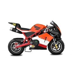 Pocket bike course Racing Orange - 49cc