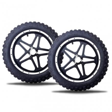 Paire de roue Pocket Cross 2.50x10 - Stars