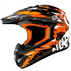 Casque Cross enfant NOEND CRACKED - Orange